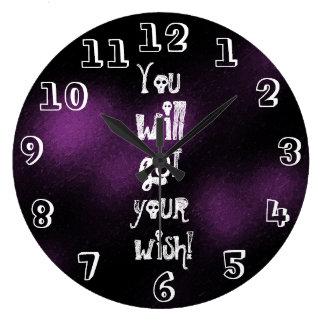 Relógio Grande Você obterá a seu divertimento do desejo o gótico