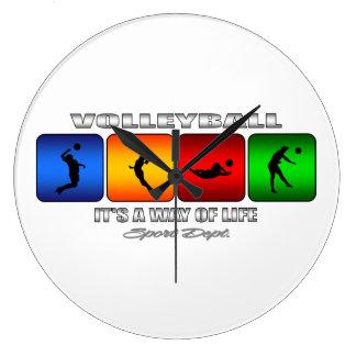 Relógio Grande Voleibol legal é um modo de vida