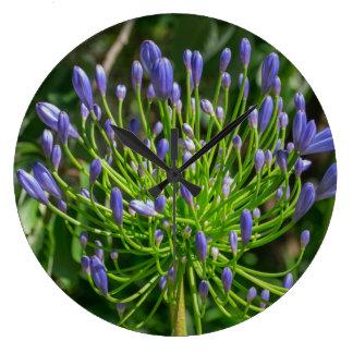 Relógio Grande Wildflower colorido do jardim na minha mente