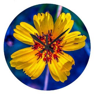 Relógio Grande Wildflower de Texas do jardim na minha mente