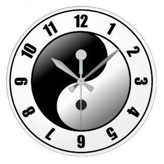 Relógio Grande Ying Yang: Pulso de disparo de parede acrílico