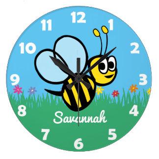 Relógio Grande Zangão bonito personalizado do jardim da abelha