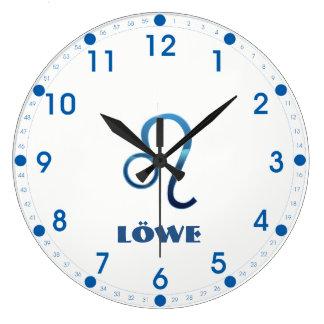 Relógio Grande Zodíaco de Blau Löwe Leo