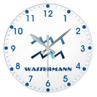 Relógio Grande Zodíaco do Aquário de Blau Wassermann