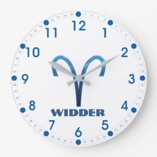 Relógio Grande Zodíaco do Aries de Blau Widder