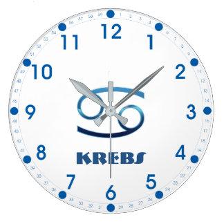 Relógio Grande Zodíaco do cancer de Blau Krebs