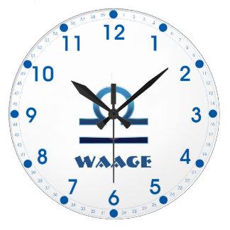 Relógio Grande Zodíaco do Libra de Blau Waage