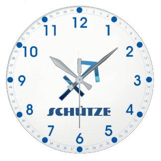 Relógio Grande Zodíaco do Sagitário de Blau Schütze