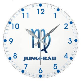 Relógio Grande Zodíaco do Virgo de Blau Jungfrau