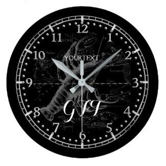 Relógio Grande Zodíaco personalizado da constelação do cancer do