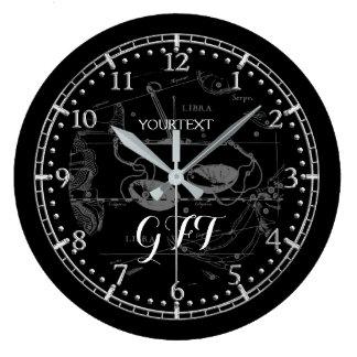 Relógio Grande Zodíaco personalizado da constelação do Libra do