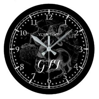 Relógio Grande Zodíaco personalizado da constelação do Sagitário