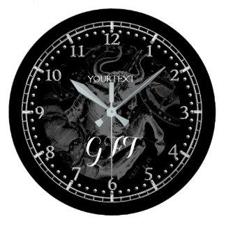 Relógio Grande Zodíaco personalizado da constelação do Taurus do