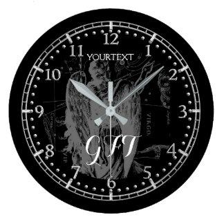 Relógio Grande Zodíaco personalizado da constelação do Virgo do