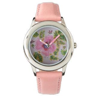 Relógio Hibiscus Pastel