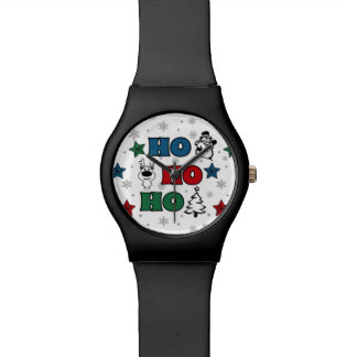 Relógio Ho-Ho-Ho design do Natal