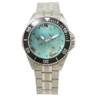 Relógio Homens da imagem de pedra preciosa de turquesa de