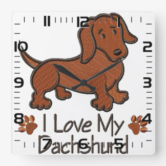 """Relógio """"I love my dachshund"""""""
