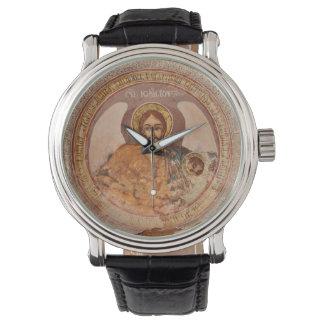 Relógio ícone baptista o da igreja ortodoxa da religião de