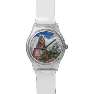 Relógio Igreja de St Bartholomew, Liege, Bélgica