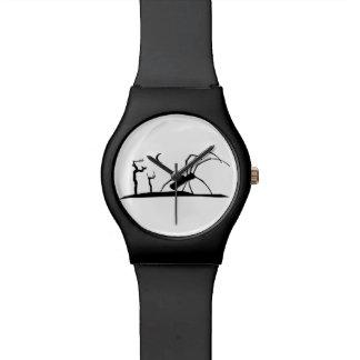 Relógio Ilustração escura do gráfico do estilo da silhueta