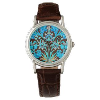 Relógio Impressão, Aqua e Brown do jacinto de William