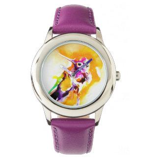 Relógio Impressão lindo do colibri do Gorget