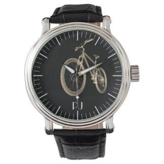 Relógio Impressão temático personalizado da bicicleta do