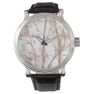 Relógio Impressão Textured da natureza