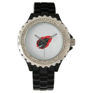 Relógio impressionante do esmalte do preto do