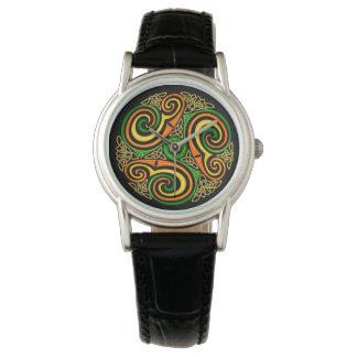 Relógio Irlandês celta Ireland Scotland Wales do design do