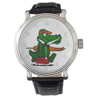 Relógio Jacaré que vai à praia