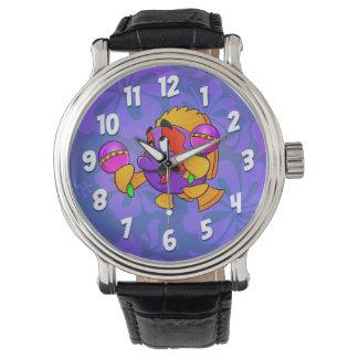 Relógio jammy dos peixes dos desenhos animados