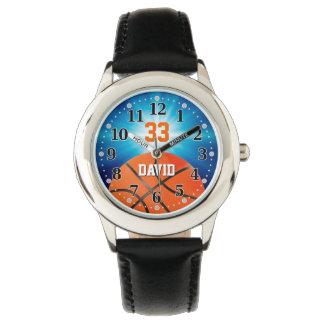Relógio Jogador de basquetebol número | Personalizable