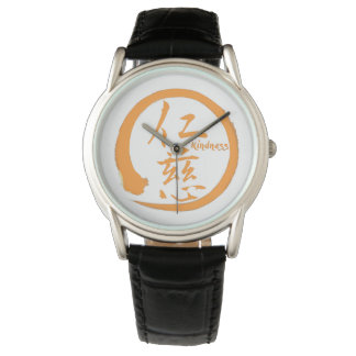 Relógio Kanji japonês alaranjado do círculo   do enso para