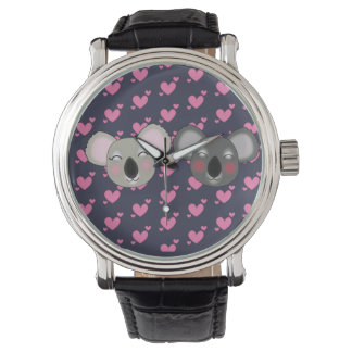 Relógio Koalas engraçados de Kawaii
