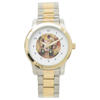 Relógio KRISHNA:    Prata do ouro do Dois-Tom