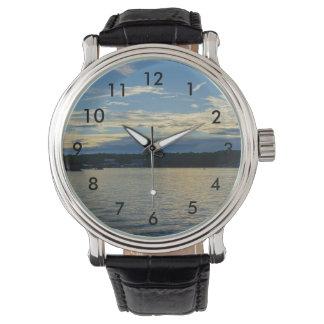 Relógio Lago azul sunset de Ozarks