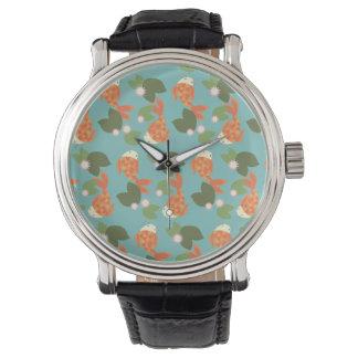 Relógio Lagoa azul de Koi