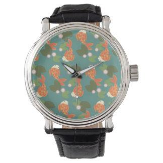 Relógio Lagoa de Koi da cerceta