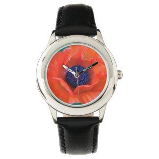 Relógio Laranja vermelha oriental da PAPOILA ---