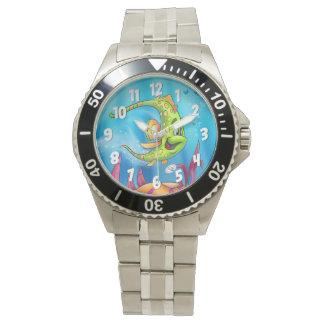 Relógio legal dos peixes dos desenhos animados