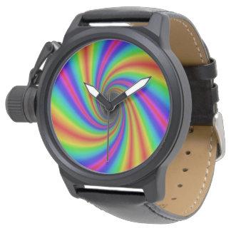 Relógio lindo do arco-íris