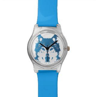 Relogio Lobo do azul de gelo da ilustração