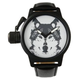 Relógio Lobo preto da ilustração