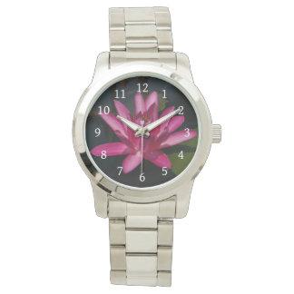 Relógio Lotus cor-de-rosa Waterlily