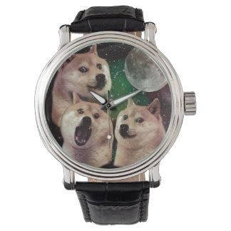 Relógio Lua do Doge - espaço do doge - cão - doge - shibe