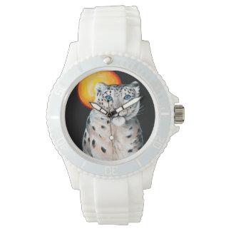 Relógio Lua do leopardo de neve