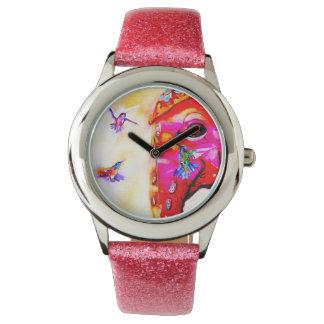 """Relógio """"Mágica colibris de todos os tamanhos"""" & impressão"""