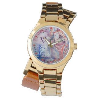 Relógio Mágica de AVALON & monograma azul da fantasia de